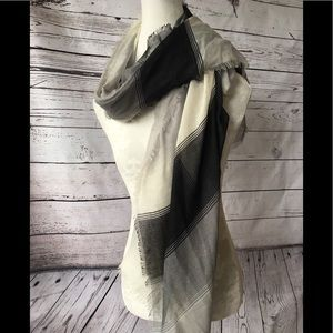 Large Striped Scarf/Wrap